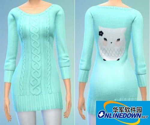 《模拟人生4》女性针织及臀外套 1