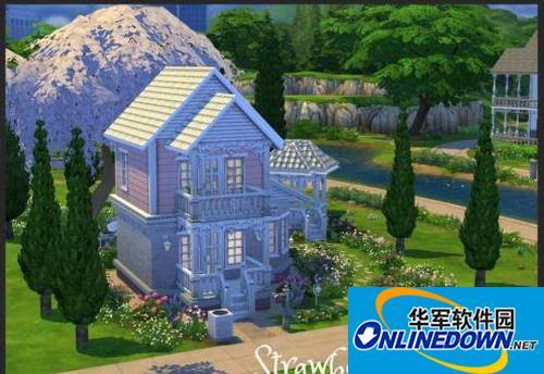 《模拟人生4》紫色圣代花园别墅