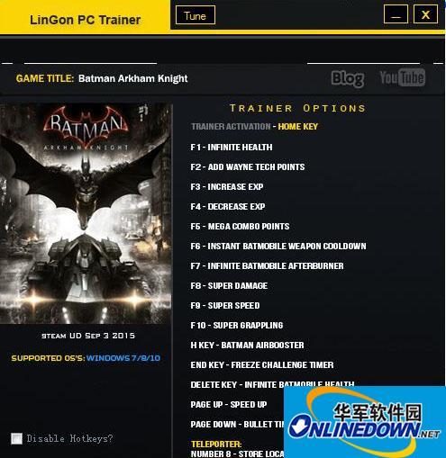 蝙蝠侠:阿甘之城 v1.2.0.36十七项修改器