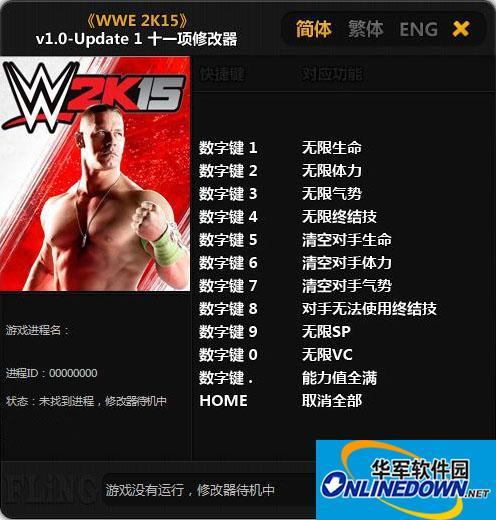 《美国职业摔角联盟2K15》-Update 1 十一项修改器 v1.0