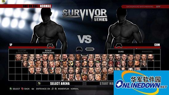 《美国职业摔角联盟2K15》R组全人物解锁存档