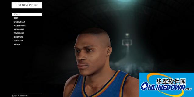 NBA 2K16 威少真实面部补丁
