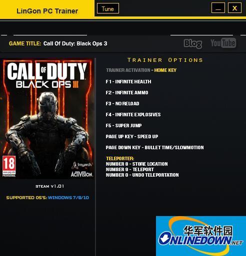 使命召唤12:黑色行动3 v1.02六项修改器Lingon版