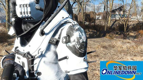 辐射4 高端护栏装甲配白色狙击枪MOD