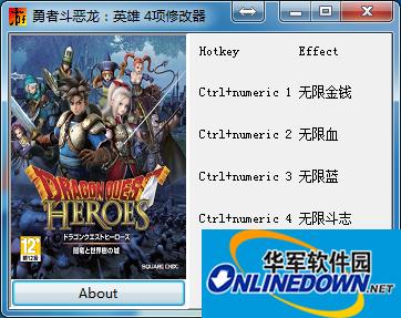 勇者斗恶龙:英雄 v1.0四项修改器