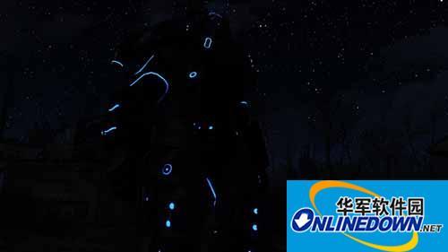 辐射4 会发光的N7动力装甲涂装MOD