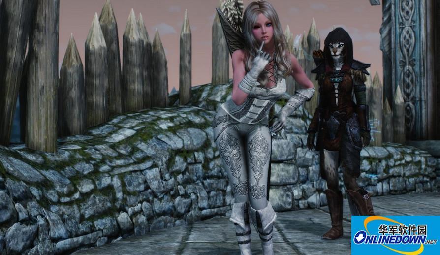 上古卷轴5:天际恶魔猎手白色装MOD