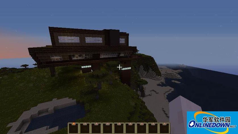 我的世界现代山体别墅地图存档