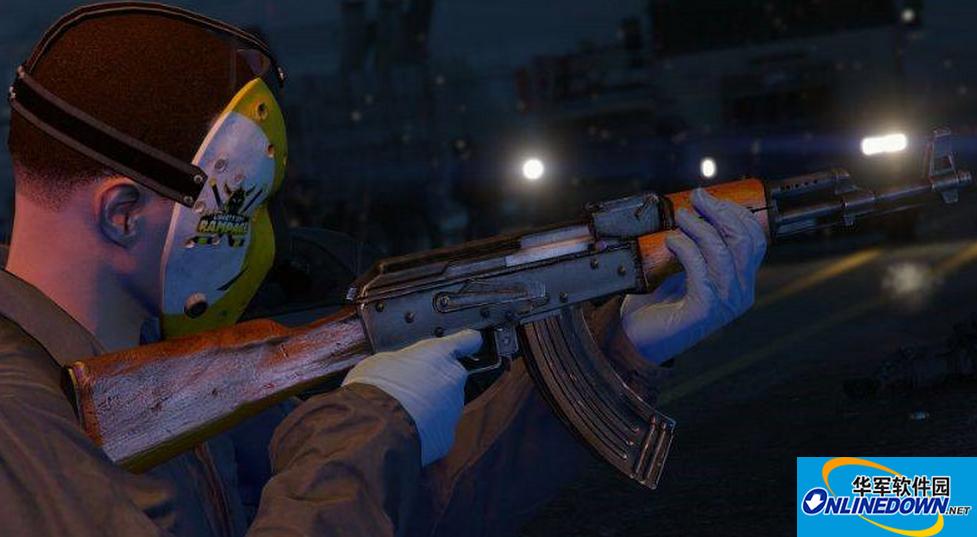 GTA5高纹理经典木质AK47冲锋枪MOD 1