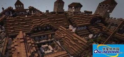 我的世界罗马风格城堡欧式风格建筑地图