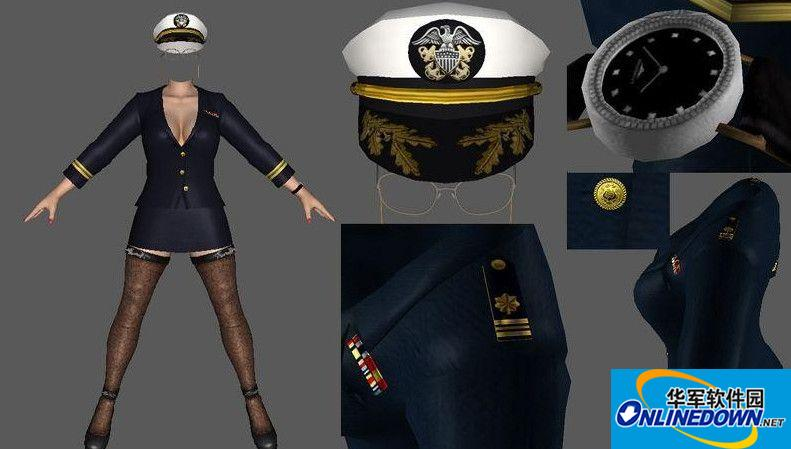 死或生5:最后一战Helena长袖海军少校制服MOD