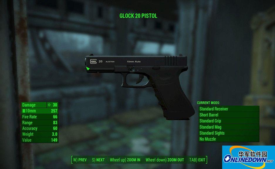 辐射4格洛克20手枪MOD
