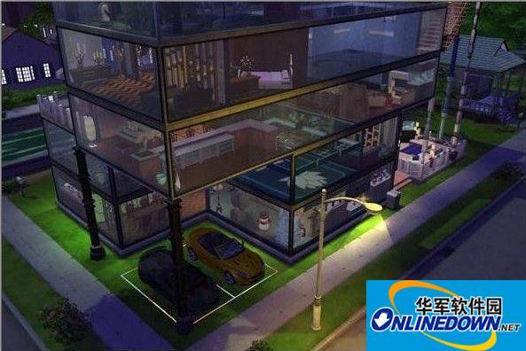 模拟人生4玻璃控超豪华别墅MOD