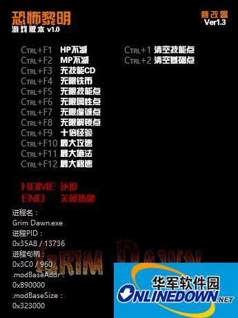 恐怖黎明 正式版 v1.4中文十四项修改器