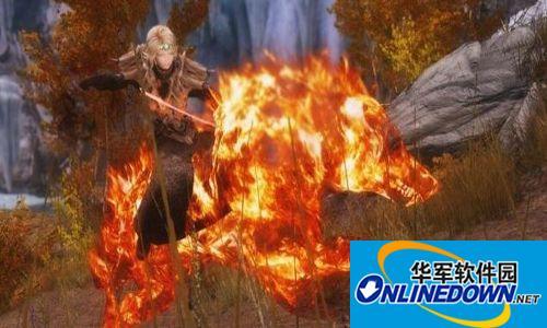 上古卷轴5:天际火焰特效狼坐骑
