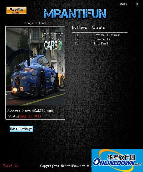 赛车计划 两项修改器MrAntiFun版 v8.0