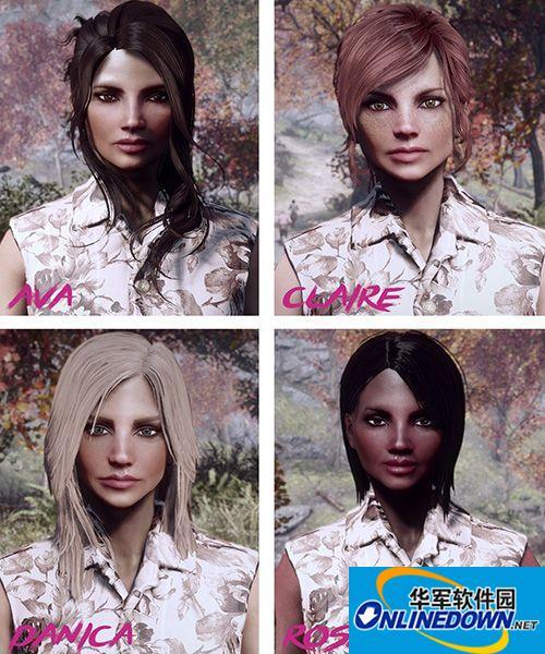 辐射4 8位独特女性角色mod