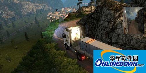 欧洲卡车模拟2山路地图包