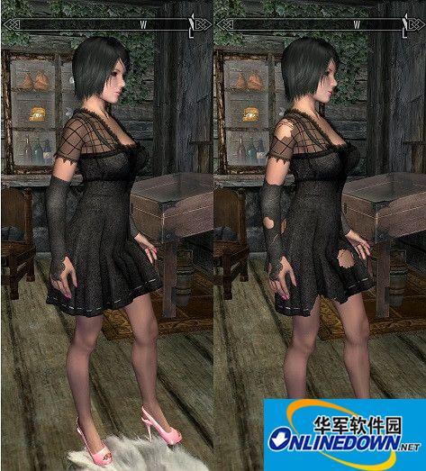 上古卷轴5:天际哥特洛丽塔连衣裙MOD