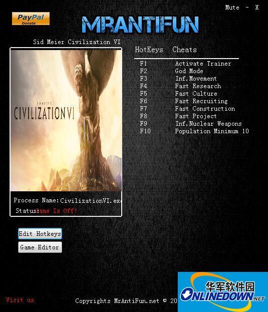 文明6九项修改器