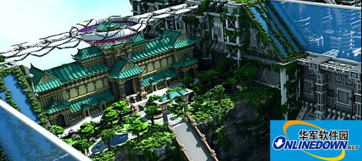 我的世界邦海市岭宫地图