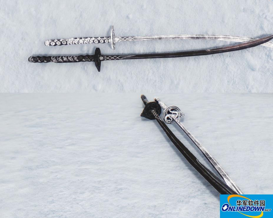 上古卷轴5天际武器MOD勒克斯和诺克提斯的武士刀
