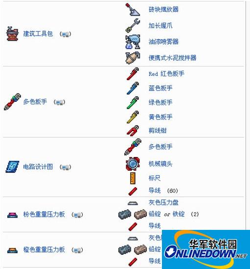 泰拉瑞亚v1.3.4合成表中文版