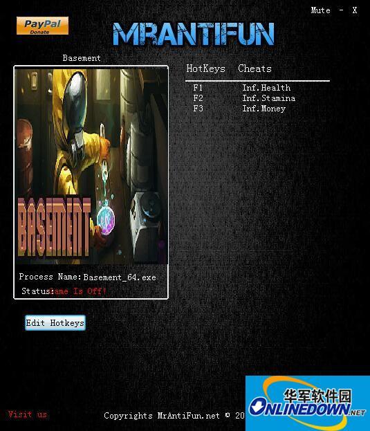 Basement三项修改器[MrAntiFun] 1
