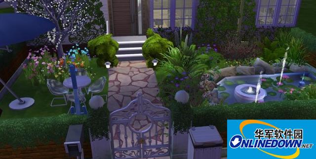 模拟人生4v1.31温馨花园洋房错层小屋MOD