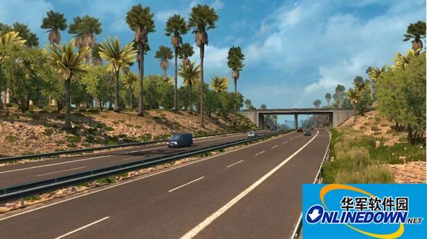 欧洲卡车模拟2v1.28热带环境素材包MODv3.7