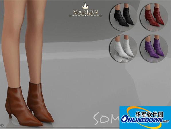 模拟人生4v1.31Somoru简约女式尖头高跟皮鞋MOD