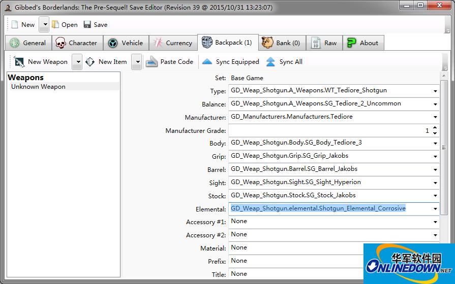 无主之地:前传v1.0.7多功能存档编辑器R39