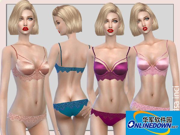 模拟人生4v1.31七色女式吊带蕾丝内衣套装MOD