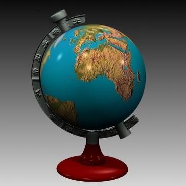 3D地球仪模型...