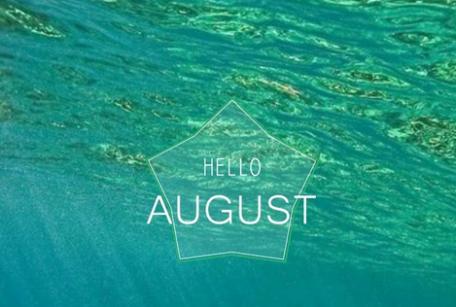 七月再见八月你好小清新图片