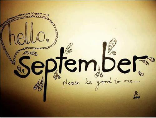 九月你好唯美带字图片高清