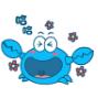 螃蟹小蓝表情