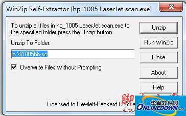 通用惠普hp1005扫描仪驱动程序 官方版 for windowsXP/2K/2