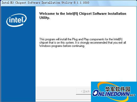 SM总线控制器驱动 Intel Software Installation Utility  v8.1.1.1010