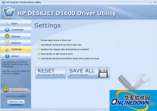HP DESKJET D1600 Driver Utility(打印机驱动程序)  v6.5