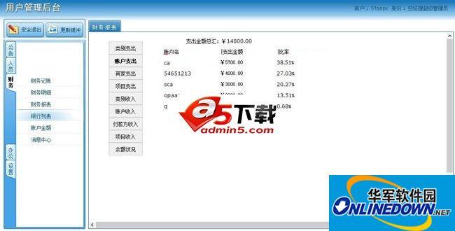 完美企业OA办公管理系统 PC版