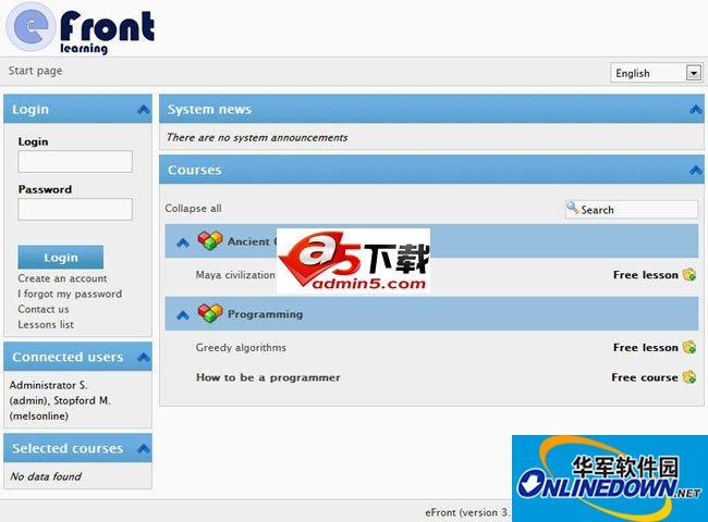 eFront在线学习系统 3.6.15.5 build18025