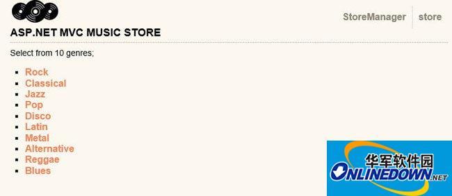 MVC+Linq to Entity 音乐商店