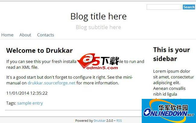Drukkar博客源码
