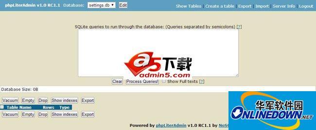 phpLiterAdmin(SQLite管理工具)