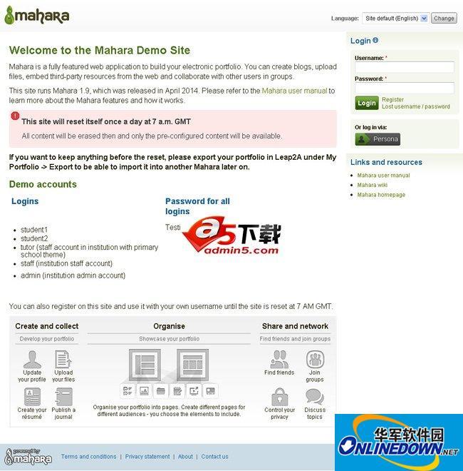 Mahara 电子学档系统 37136