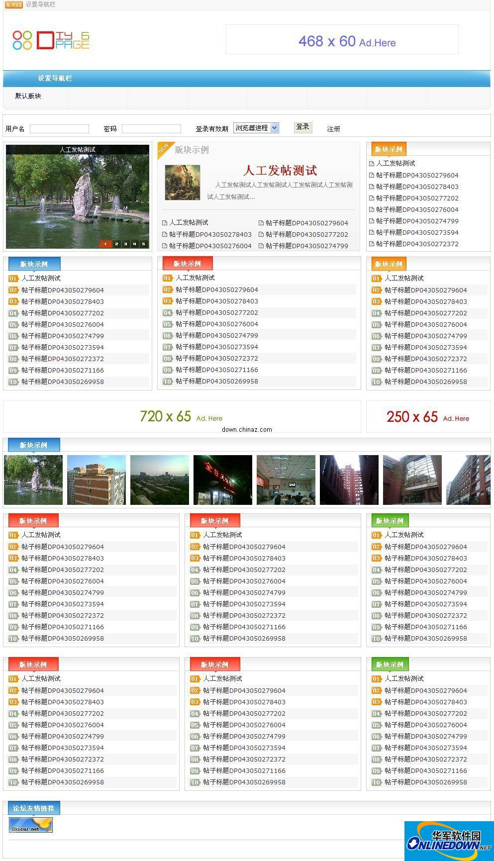 DiY-Page论坛CMS 6.5 build 091029