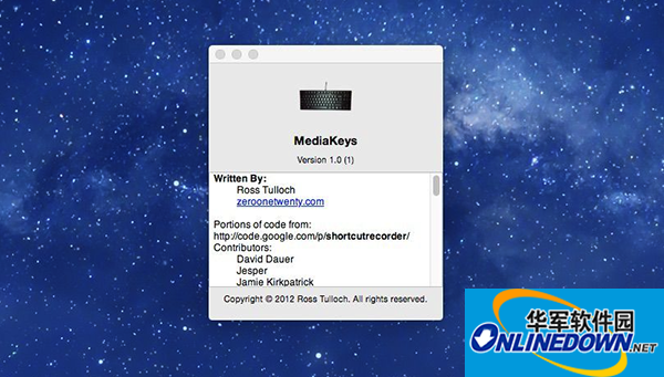 MediaKey for Mac V1.0