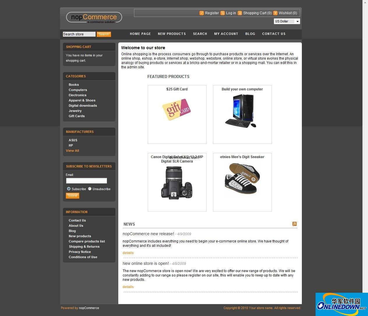 NopCommerce (ASP.NET商城) 2