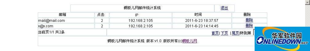 铜板儿网邮件群发统计系统